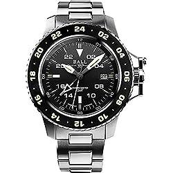 Pelota de hombre reloj de pulsera Engineer Hydro Carbon Aero GMT Fecha GMT analógico automático dg2016a de scj de BK