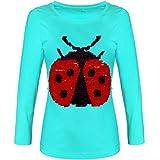 BEZLIT Mädchen Pullover Shirt Langarm Wende-Pailletten 21514, Farbe:Grün, Größe:164