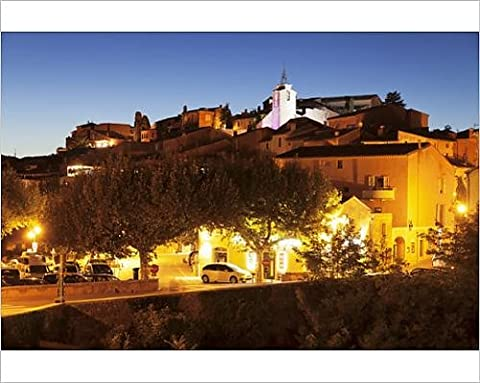 Photographic Print of Hilltop village of Roussillon, rocks of ochre, Provence, Provence-Alpes-Cote