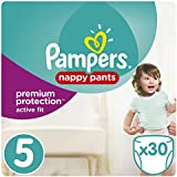 Pampers - Active Fit Pants - Couches Taille 5 (11-23 kg/Junior) - Pack Géant (x30 culottes)