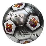 Offizieller FC Barcelona-Fußball mit Autogrammen und Wappen, (Größe 5) 5 Crest-Silver