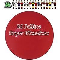 Calcio Balilla 20 Palline Super Silenziose rosse. Mescola specifica per attutire il rumore del colpo, confezione nostra cura.