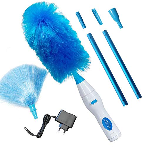 FUSKANG Spin Duster 360 Hurricane Spin Electric Duster Cleaning Brush, Duster Brush The Electric Duster Feather 180 ° Multifunctional Electric Duster (Color: Chargable)