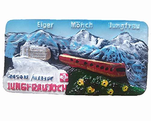3D Eiger Monch Jungfrau Schweiz Kühlschrankmagnet Eiger Monch Jungfrau Schweiz Souvenir Kühlschrank Magnet Home & Kitchen Dekoration Magnetaufkleber Tourist Souvenir Geschenk