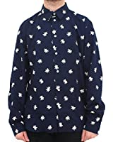 Paul Smith Jeans Bang Over Print Navy Shirt 084241004