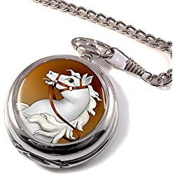 White Horse Full Hunter Pocket Watch