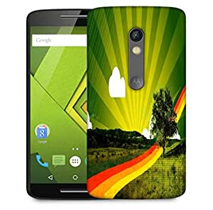 Snoogg Rainbow Path Designer Protective Phone Back Case Cover For Motorola Moto X Play