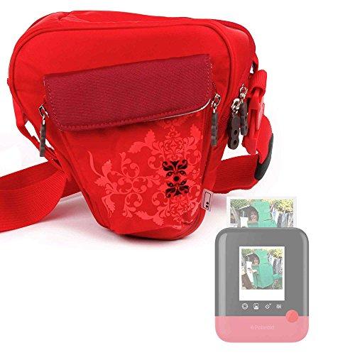 Galleria fotografica Borsa Donna Per Fotocamera Polaroid POP - Con Maniglia / Tracolla - Colore Rosso - DURAGADGET