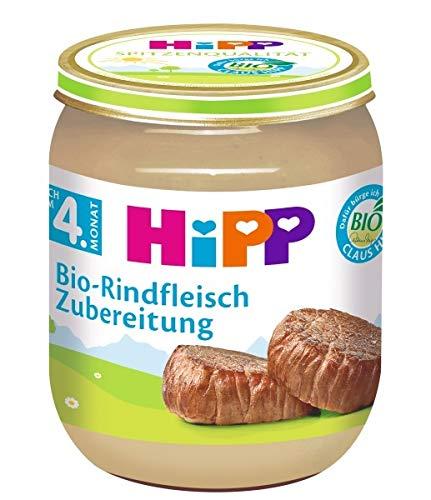 HiPP Fleischzubereitungen ab 4.Monat,Bio-Rindfleisch-Zubereitung,DE-ÖKO-037, Art.Nr. 6010-01 - VE 125g