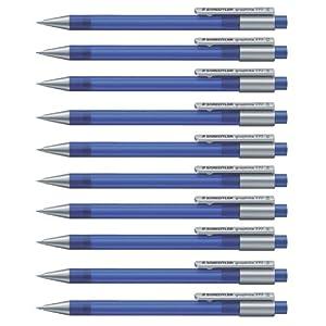 Staedtler Staedtler 777 05-33 grafito lápiz mecánico lleno de B-minas, plomo diámetro 0,5 mm, tallo, color y azules, 10 piezas en una caja de cartón