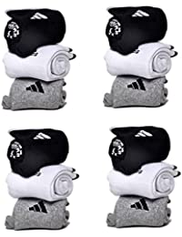 Benjoy Men's Cotton and Polyester Ankle Length Towel Socks Multicolour_Free Size - Set of 12