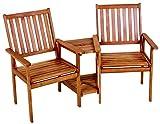 Jardinion Doppelsessel Tisch, Eukalyptus Grandis, Bar, Terrasse Balkon Garten Design Möbel