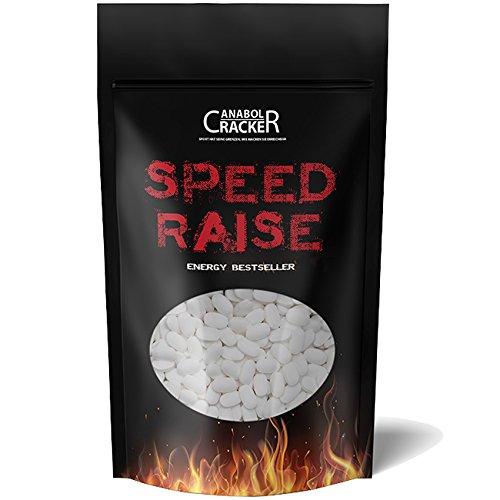 560 Tabletten - Speed Raise, Coffein / Koffein, 200mg Rein + Hochdosiert, Caffeine Energy, beste Diät / Fettverbrennung / Fatburner - Vegan, ohne Gelantine