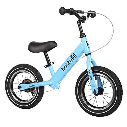 Laufrad, Laufrad mit manueller Bremse - für 2-jährige und ältere, leichte Luftreifen, Keine Pedale Laufrad mit verstellbarem Lenker und Sitz, blau ZHAOFENGMING (Color : Light Blue, Size : As Shown) -
