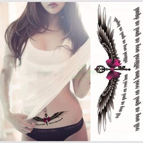 5pcs impermeabile autoadesivo del tatuaggio tatoo sul corpo di grandi dimensioni ali d'angelo adesivi tatto flash tatuaggi tatoo per le donne ragazza