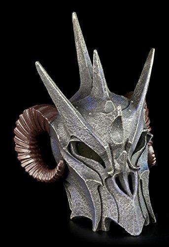 Dämonen Helm - Dunkler Lord - Totenkopf Figur Schädel Hörner
