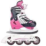 Spokey Set Größenverstellbare Inline Skates/Schlittschuhe mit austauschbarer Schiene + ULTRAPOWER Beutelrucksack Modelle   Kinder   Jugendliche   Damen   Herren