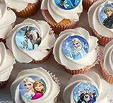 """Cupcake-Dekoration """"Die Eiskönigin"""" aus Reispapier, Ø 3,8cm, 30 Stück"""
