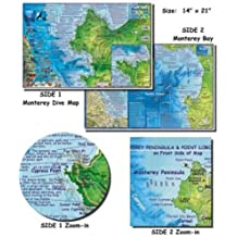 Monetrey Bay Map for Scuba Divers and Snorkelers
