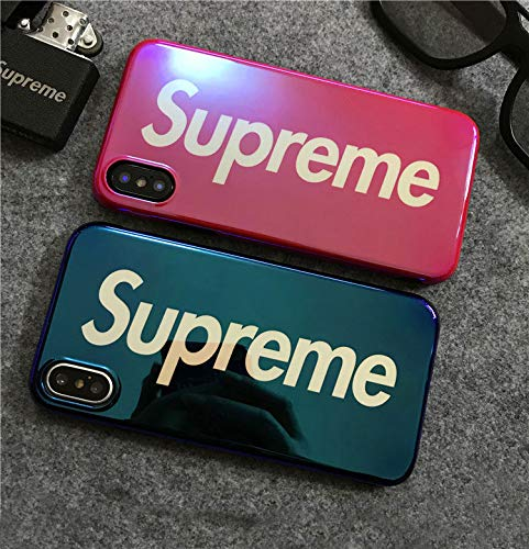Supreme iPhone X Handy Cover Schutzhülle Handyhülle Jordan Michael Jordan Chicago Bulls (Rot) (Supreme Case)
