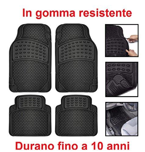 RMG r17V016Alfombras Coche de goma Negro Ultra resistentes lavables con pretagli para que se mantengan a Le coche y furgonetas
