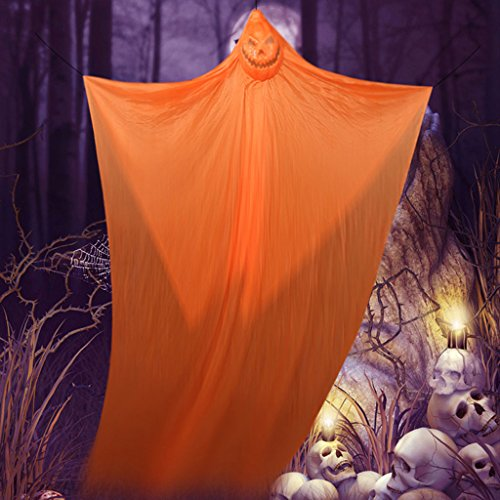 Halloween Dekoration liefert Hängende Geister Mall Supermarkt Bar KTV Spuk Haus Horror Requisiten (Color : Orange)