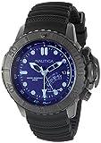 Nautica hombres de buceo con nad52500g NMX estilo analógico de cuarzo negro de cristal azul...
