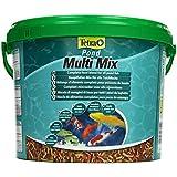Tetra Pond Multi Mix (ausgewählte Futtermischung aus Flocken, Sticks, Wafern und Gammaruskrebsen für alle Gartenteichfische), 10 liters Eimer