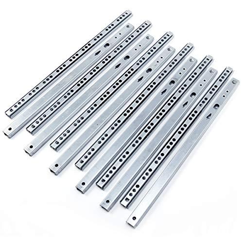 6 Paar 310mm*17mm Schubladenschienen Rollenauszug Schubladenauszug Schubladenschienen Teleskopschiene Kugelführung -