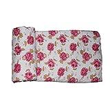 Frabjous Design Floral Print Pink Double...
