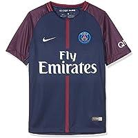 Nike PSG Y Nk BRT Stad JSY SS Hm Camiseta 1ª Equipación Paris Saint Germain 17-18, Unisex niños, Azul (Midnight Navy/White), XS
