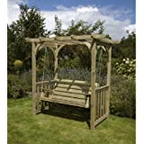 HGG Swing Arbour - Outdoor Patio Solid Wood Garden Furniture