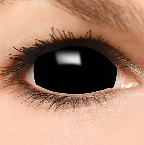 Black Sclera Kontaktlinsen in schwarz, weich ohne Stärke, -