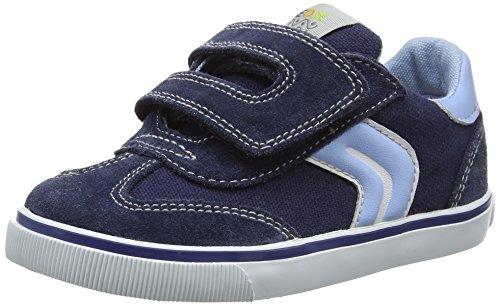 Geox B Kiwi BOY E, Zapatillas para Bebés, Azul (Navy / Lt Blue c0693), 26 EU
