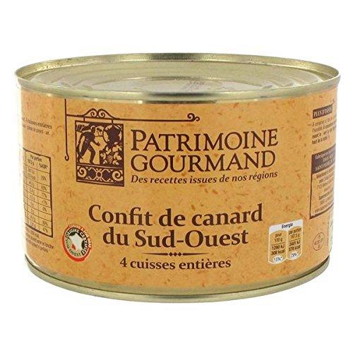 Patrimoine gourmand confit de canard 4 cuisses 1350g - ( Prix Unitaire ) - Envoi Rapide Et Soignée