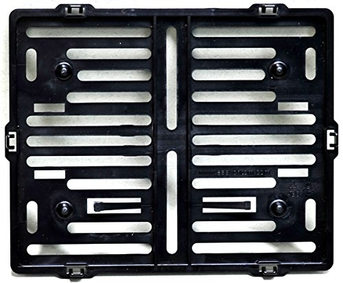 Motorrad Kennzeichenhalter Easy Chrom frameless 170x210mm schwarz - für österreichische Kennzeichen