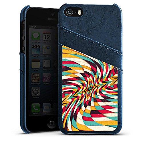 Apple iPhone 5 Housse Étui Silicone Coque Protection Graphique Graphique Motif Étui en cuir bleu marine