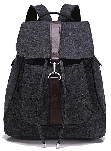 Jonesport Motif aztèque Tribal Vintage Style école Bookbags de voyage Sac à dos pour ordinateur portable Toile Noir