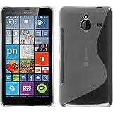 Funda de silicona para Microsoft Lumia 640 XL - S-Style transparente - Cover PhoneNatic Cubierta + protector de pantalla