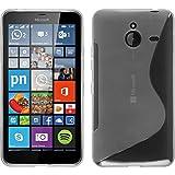 PhoneNatic Coque en Silicone pour Microsoft Lumia 640 XL - S-Style Transparent - Cover Cubierta + Films de Protection