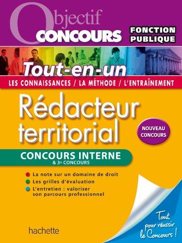 Rdacteur territorial et rdacteur principal 2me classe - Concours internes et 3 concours