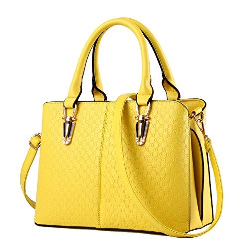 Bolso amarillo limón para mujer.