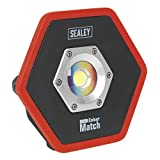Sealey LED065 CRI-95 Projecteur rechargeable COB LED Lithium-Ion 10 W Noir