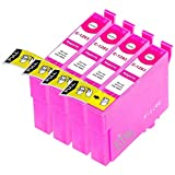 King of Flash Brand New 4 Magenta Compatible Printer Ink Cartridges For Epson T1293 - 4 x Magenta SX420W, SX425W, SX525WD, SX620FW, Office B42WD, BX305F, BX305FW, BX320, BX320FW, BX525WD, BX535WD