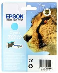 Epson T0712 Cartouche d'encre d'origine DURABrite Ultra Cyan