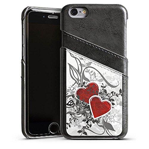 Apple iPhone 4 Housse Étui Silicone Coque Protection Amour Amour C½ur Étui en cuir gris