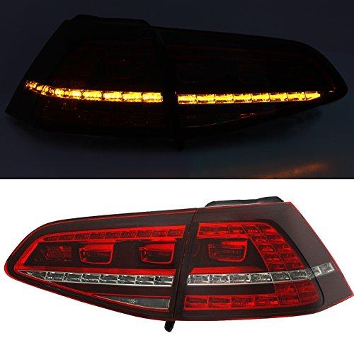 Depo Rückleuchten Set in Rot GTI R-Line Look Heckleuchten Rücklichter (7 Led-rücklicht)