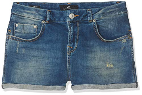 Ltb jeans judie g, pantaloncini bambina, blu (burrel x wash 51279), 7 anni