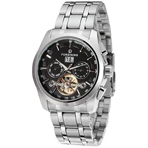 Forsining Men's Automatic Stainless Steel Analogue Tourbillon Wristwatch FSG9404M4S1