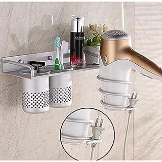 Aluminium Wall Bathroom Shelf Rack Household rack Dryer DRYER Hair Dryer Hair Dryer With 2Cups Rack Holder of Dryer